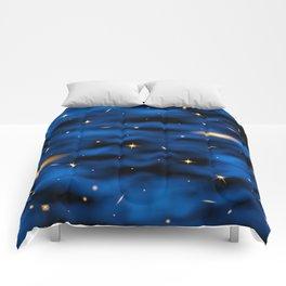 Space nebula background. Comforters