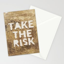 Take The Risk Stationery Cards