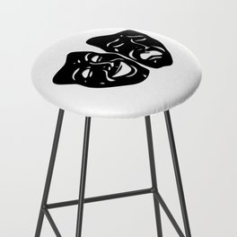 Theater Masks of Comedy and Tragedy Bar Stool