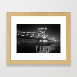 Chain Bridge Budapest Framed Art Print