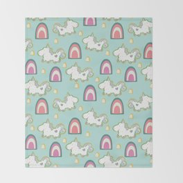 Cereal for Dinner - Unicorns Throw Blanket