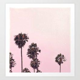 Palm Tree Peachy Art Print