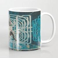 neon Mugs featuring Neon by Imogen Art