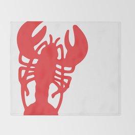Red Lobster Throw Blanket