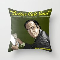 better call saul Throw Pillows featuring Better Call Saul by Denis O'Sullivan