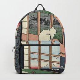 Utagawa Hiroshige Japanese Woodblock Cat Backpack