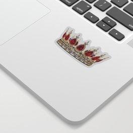 Ruby Jewel Crown Sticker