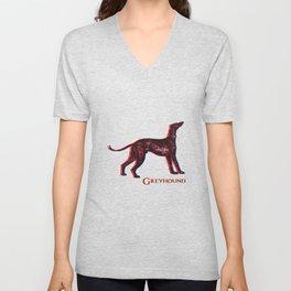 Greyhound Dog | Animal Art Design Unisex V-Neck