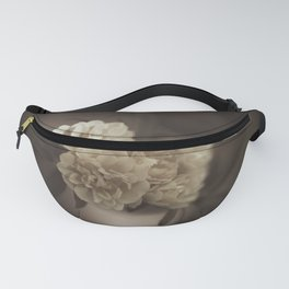 Black and White Flower Vintage Look Fanny Pack