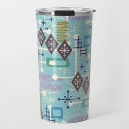 Retro Mid Century Modern Atomic Abstract Pattern 245 Travel Mug