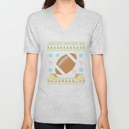 American Football Christmas Ugly Shirt Sweater Ugly Design Unisex V-Neck