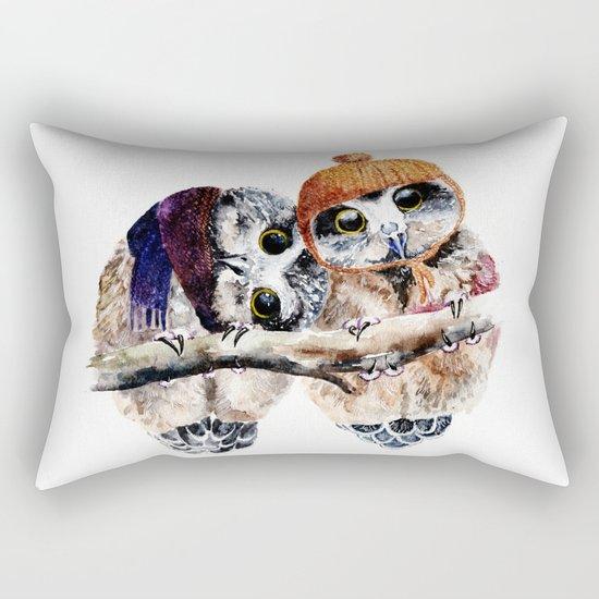 Winter Owls Rectangular Pillow