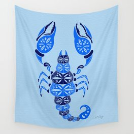 Blue Scorpion Wall Tapestry