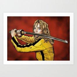 Tarantino Kill Bill -  Kiddo The Bride Art Print