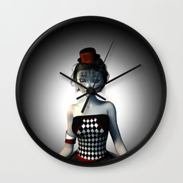 Leaving the circus Wall Clock
