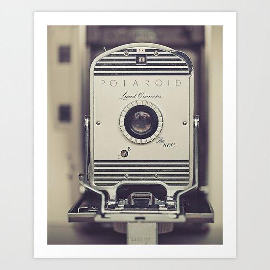 Vintage Polaroid Land Camera The 800 Art Print