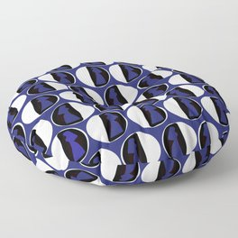 Dots Cardin Blue Floor Pillow