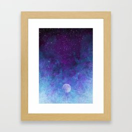 Violet Galaxy: Lunar Eclipse Framed Art Print