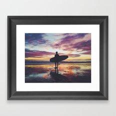 Surfing pure Color Framed Art Print