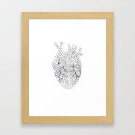 heart map Framed Art Print