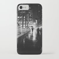 new york city iPhone & iPod Cases featuring New York City Noir by Vivienne Gucwa
