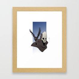 The Skull and the Raven Framed Art Print