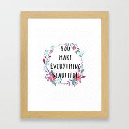 Beautiful You Framed Art Print