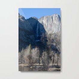 Yosemite Falls with Sun and Shadow Metal Print
