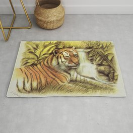 Tiger in free Wilderness Rug