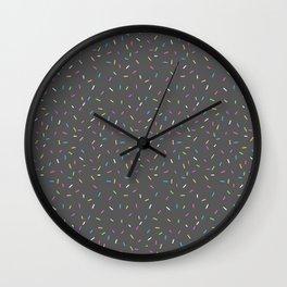 Sprinkles, Please (Dark Grey) Wall Clock