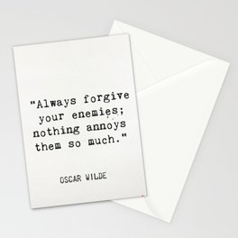 Oscar Wilde quote about enemies Stationery Cards
