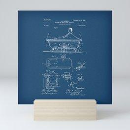 Rocking Oscillating Bathtub Patent Engineering Blueprint Mini Art Print
