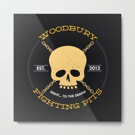 Woodbury Fighting Pits Metal Print