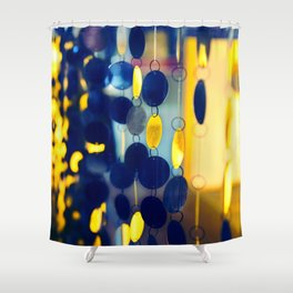 GLAM CIRCLES #Blue #1 Shower Curtain