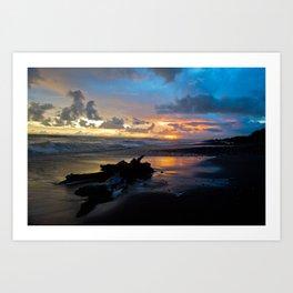 Sunset at Dominical Beach Art Print