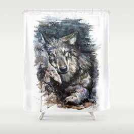 Wolf life Shower Curtain