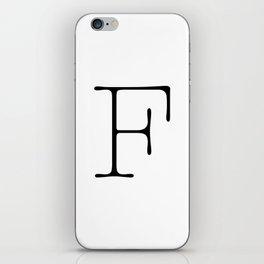 Letter F Typewriting iPhone Skin