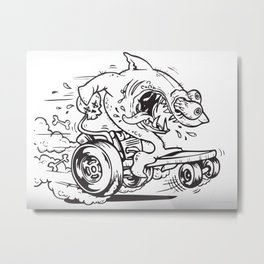 Shark Fink Metal Print