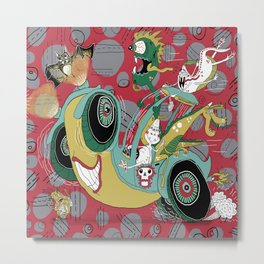 get in the car, we're goin' for a ride! Metal Print