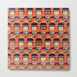 Super cute sports stars - Ice Hockey Orange and Blue Metal Print