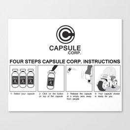 Manga, Dragon Ball, Capsule Corp instruction Canvas Print