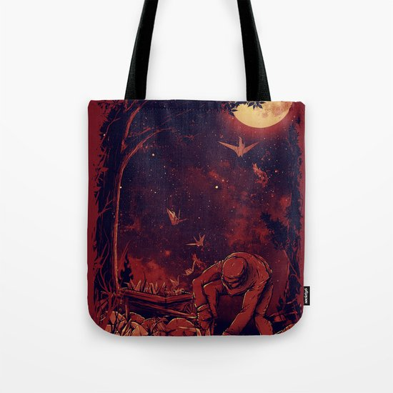 Night at the Origami Garden Tote Bag