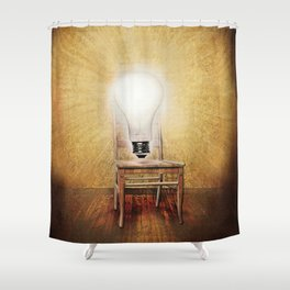 The Seat of Big Ideas Shower Curtain