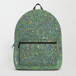 Gustav Klimt - Rosebushes under the Trees Backpack