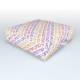 You and Me Rainbow Outdoor Floor Cushion
