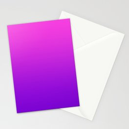 Pink to Purple Ombre Gradient Stationery Cards