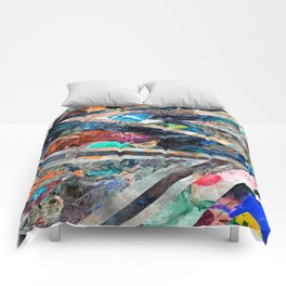 Triangle Forest Abstract Rainbow Comforters