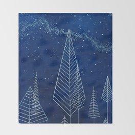 Celestial Trees Throw Blanket