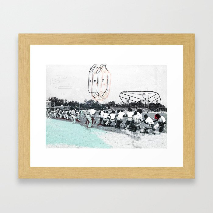 how sweet it is/how little it shows Framed Art Print