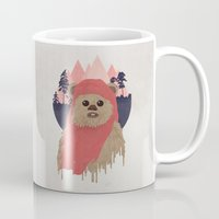 ewok Mugs featuring Ewok by Robert Scheribel